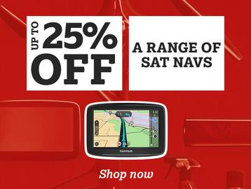 Up To 25% Off a Range of Sat Navs